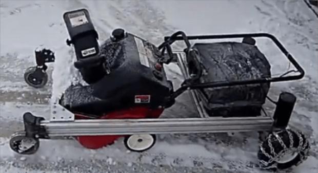 remote control snow blower