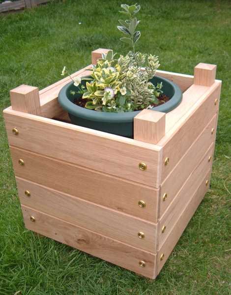 how to make a simple chunky wooden planter make