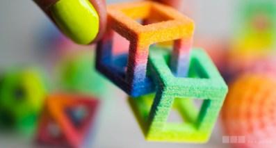Interlocking 3D-printed candies
