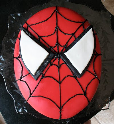 Bake it how to decorate a spider man cake make for Spiderman template for cake