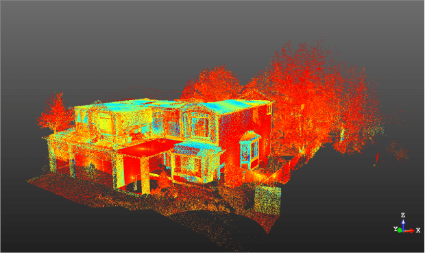 Omar's home captured with a Trimble TX8 3D scanner