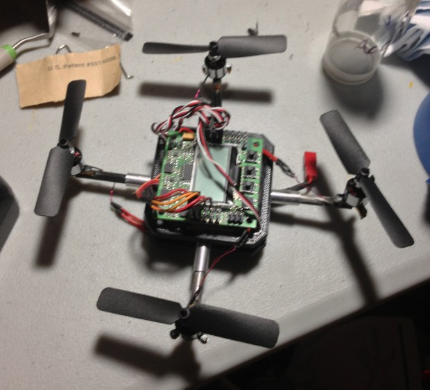 Did you know? The original Pocket Drone design was a quadrotor. It didn't have enough power to carry the weight.