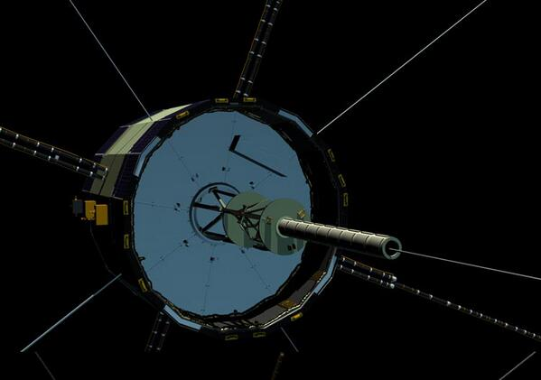The ISEE-3 spacecraft.