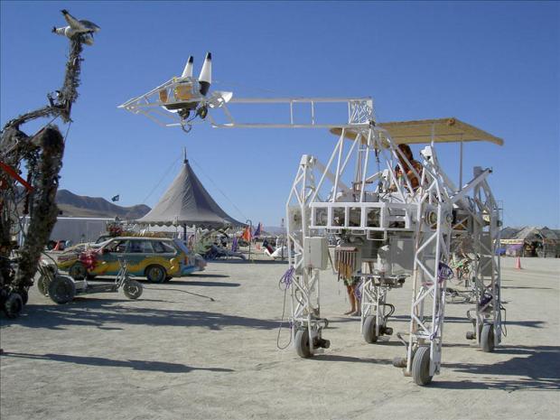 Russell at Burning Man.