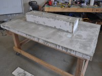 LED Concrete Patio Table with Built-in Beverage Cooler | Make: