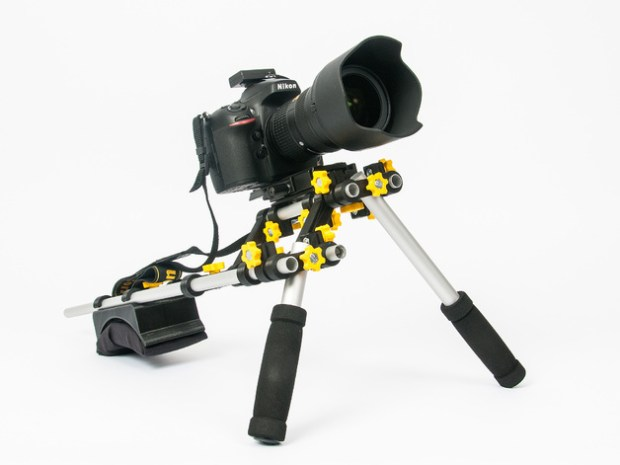 Stabilize your videos with this industry-standard sized shoulder rig.