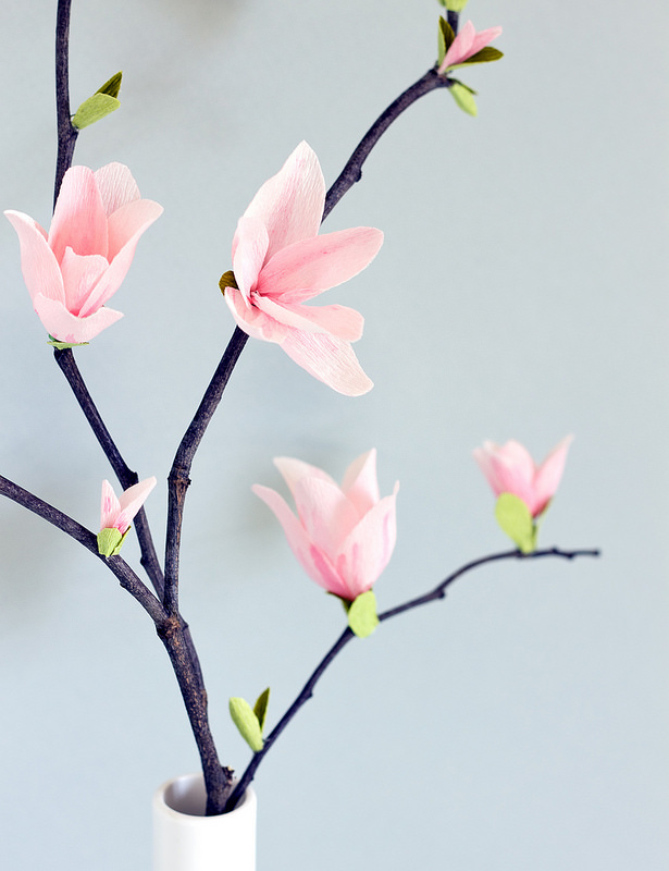 How-To: Paper Magnolia Blossoms
