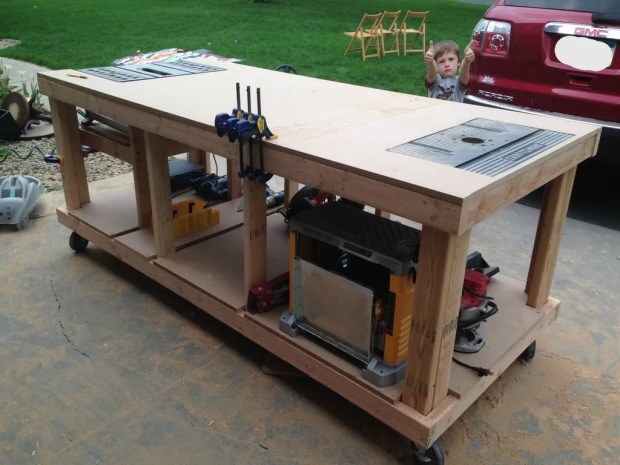 Building your own wooden workbench make after 11 hours of work including the trip to home depot to buy the lumber greentooth Image collections