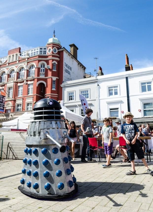 Daleks at Brighton Mini Maker Faire