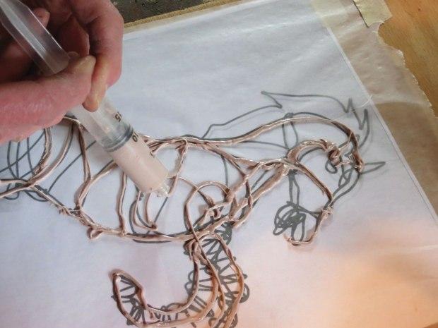 Bondo extrude horse art
