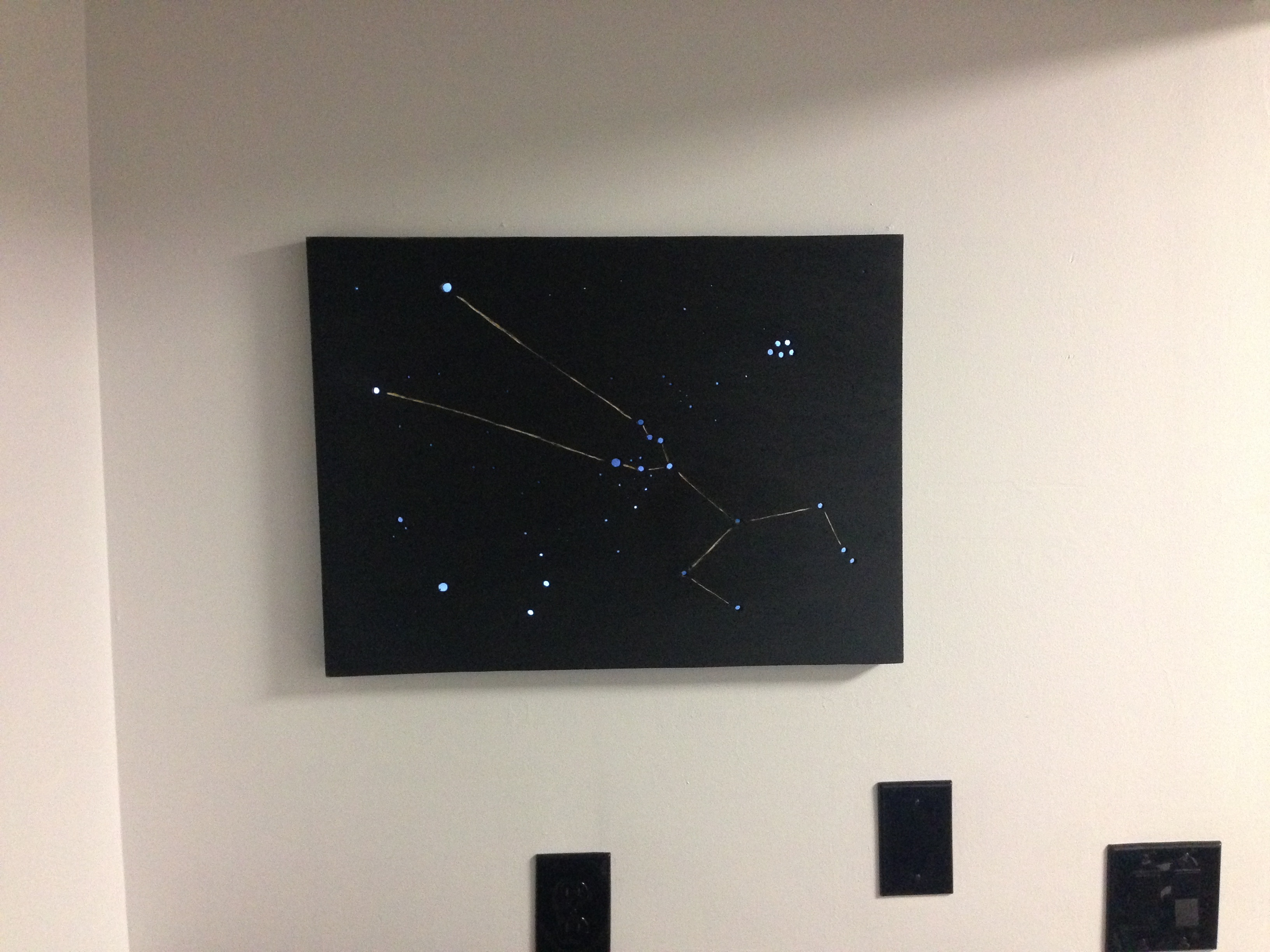 Bring The Cosmos Into Any Room With This Simple DIY LED Wall Art!
