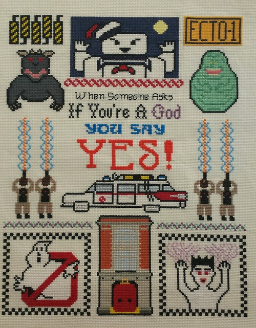 Ghostbusters Embroidery Sampler
