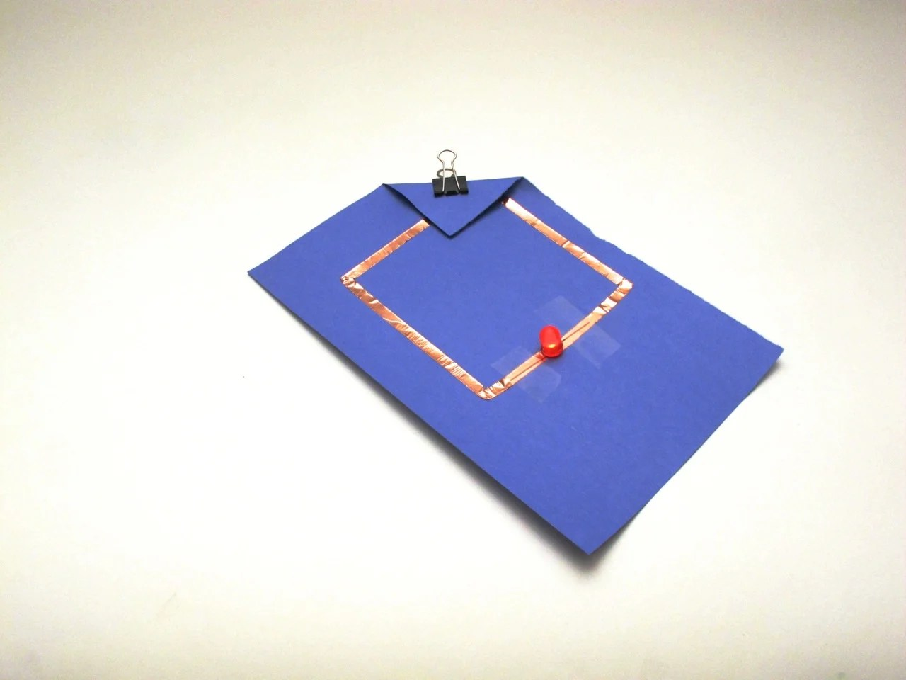 Simple Paper Circuit Make Just Around The Corner Boards From 3d Printers Cartridge