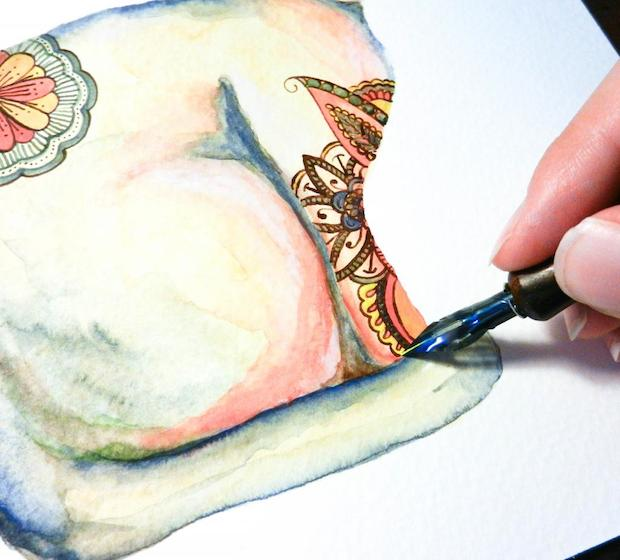 inkstruck_watercolor_henna_cat_illustration_02