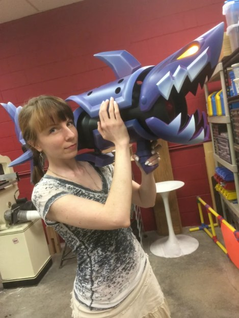 Yep, it's a shark rocket launcher with a missile locked and loaded- in its mouth