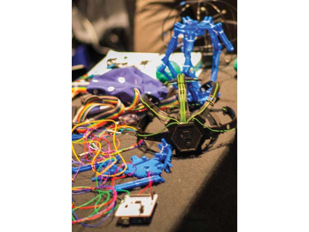 OpenBCI 3D-printed EEG headset prototypes.