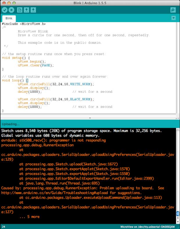 """The """"avrdude: stk500_recv(): programmer is not responding"""" error"""