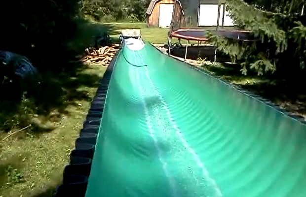 DIY water slide
