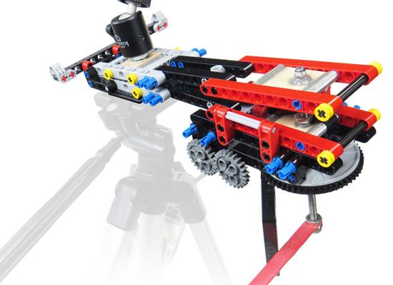 Lego's EV3 brick powers Brian's motorized crank