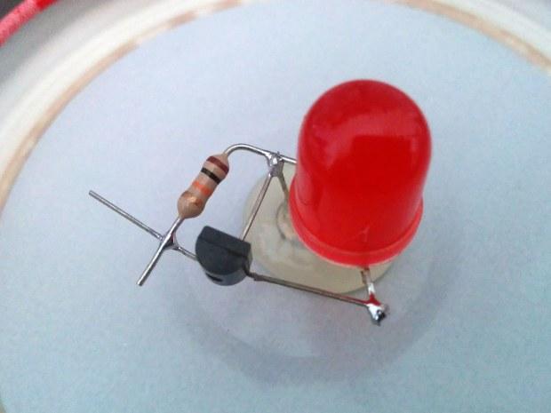 Dark-Detecting LED
