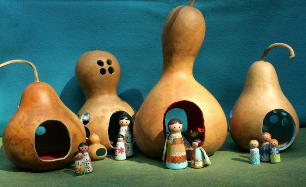gourd village 4 blue