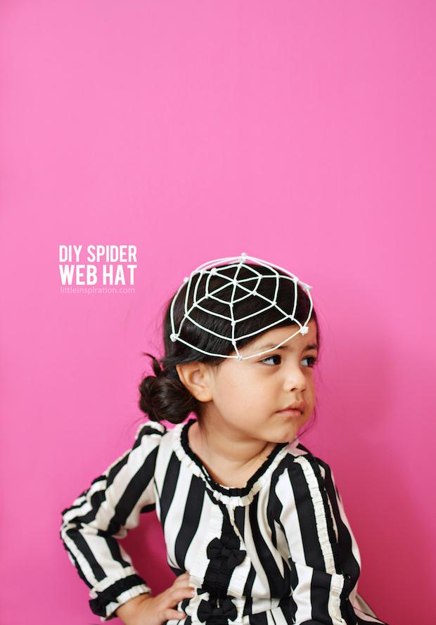 littleinspiration_DIY_Spider_Web_Hat_Tutorial_01