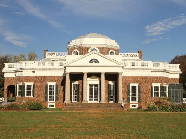 The west side of Jefferson's Monticello home.