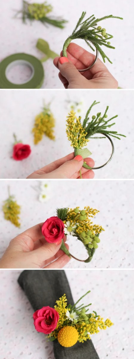 steps-flower-napkin-ring-wedding-diy
