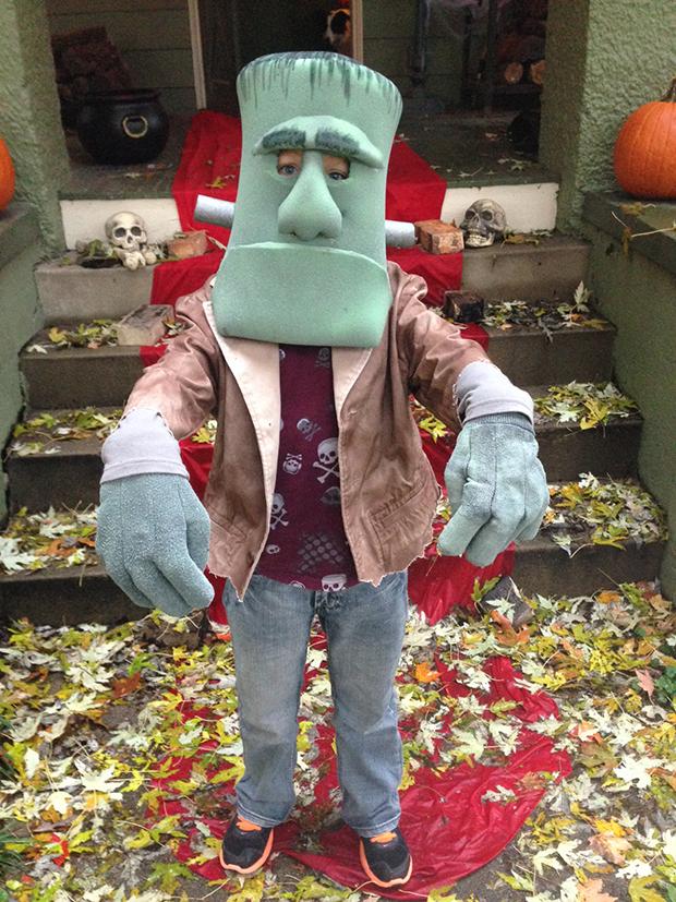 Big Hands and Foam Head Frankenstien's Monster Costume by Scott Sauer