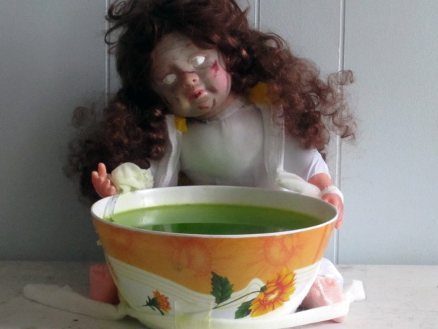 Vomiting Doll Punch Bowl Fountain