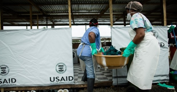 Healthcare Workers Fighting Ebola on the Front Line (photo from US AID)