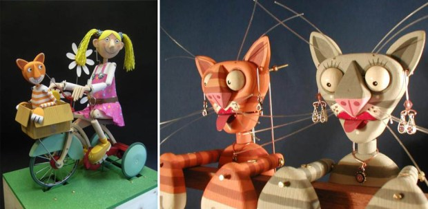 "Keith Newstead's pieces ""In the Garden with Charlie"" and ""Sing Cats Heads"""