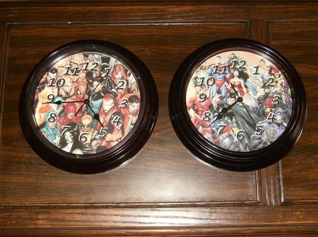 Dollar Store clocks transformed into handmade masterpieces!