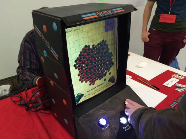 The Atomic Arcade—an atom building game
