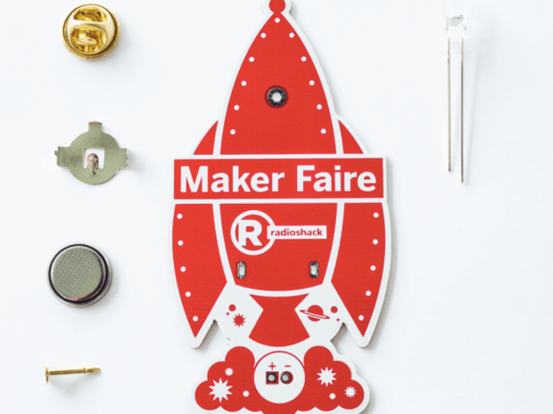 Learn-to-Solder Rocket Ship Pin