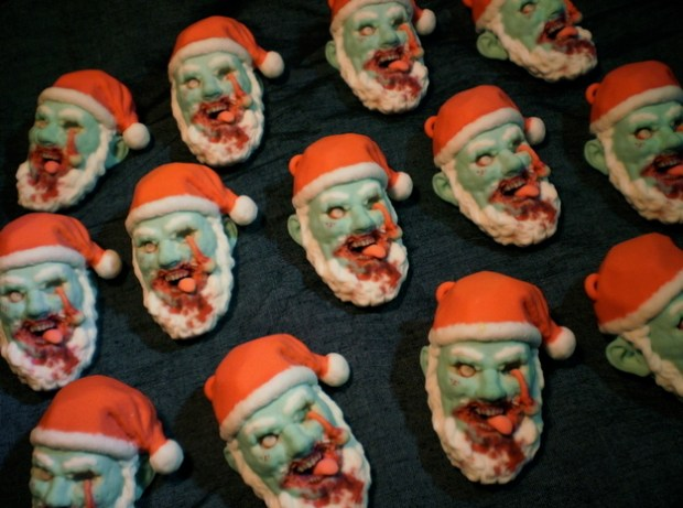 Keeping with the holiday horror spirit, OfCorpseYouCan's Zombie Santa Christmas Ornament is a great addition for fans of The Walking Dead. Unfortunately, it only had a limited run back in 2012 and is no longer available for purchase, however the designer states he will have other horrific designs sometime in the future.