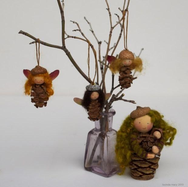 mini pine cone fairies