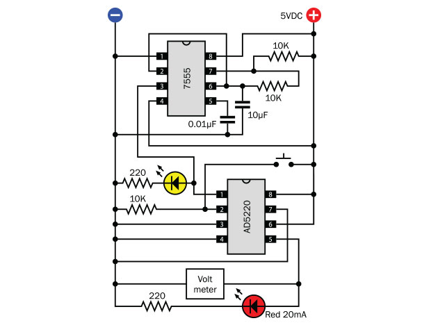 how to use digital potentiometers to control light and sound make