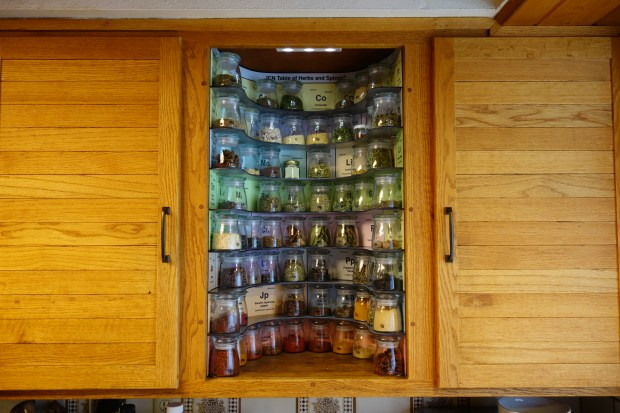 Kitchen Geeks Build This Periodic Table Of Spices Rack
