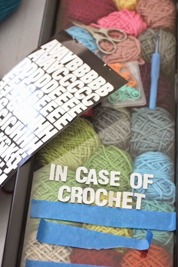 How-To: Decorative Crochet Emergency Wall Art