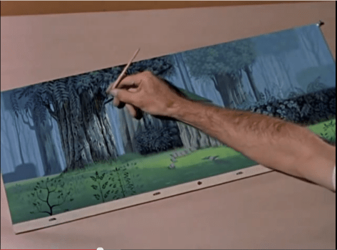"One artist painting one tree from Disney's documentary ""Four Artists Paint One Tree""."