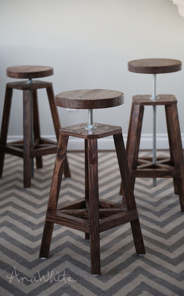 Bottoms Up Build These Stylish Adjustable Height Bar
