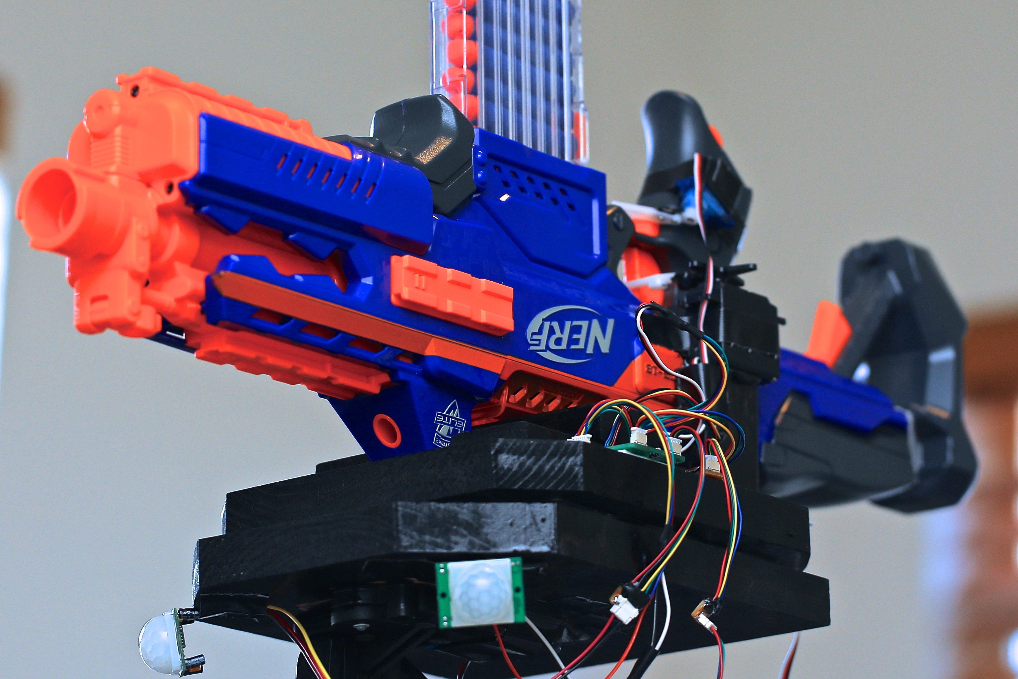 Foamland Security Sibling Proof Your Stuff With A Nerf Sentry Gun Make