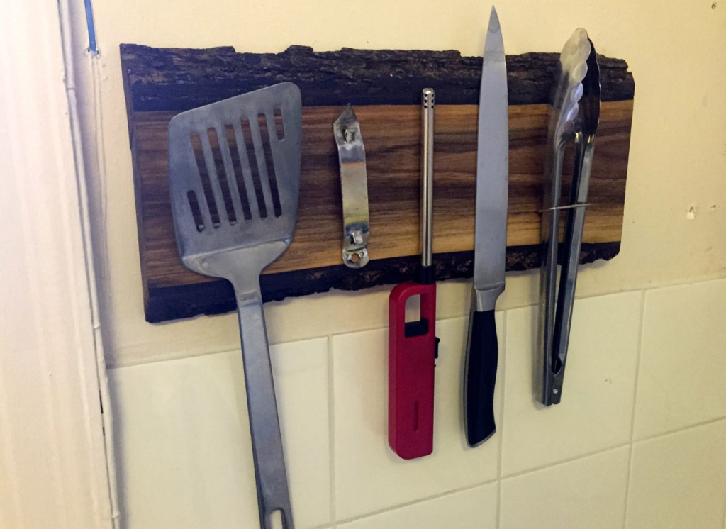 How To Build A Rustic Wooden Magnetic Utensil Holder Make