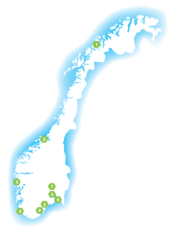 A network of up to 10 makerspaces in Norway