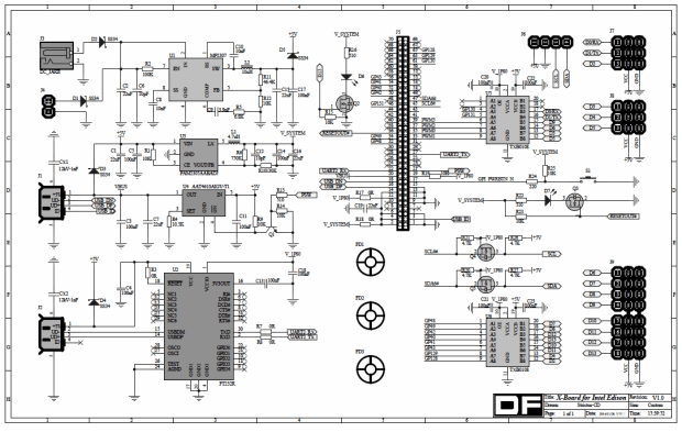 Full schematic of the Romeo board