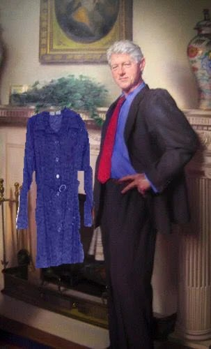 Bill Clintons portrait photobombed by Monica Lewinsky dress