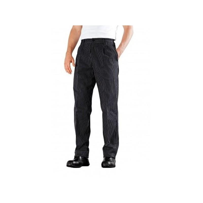 pantalon de cuisine a plis bragard