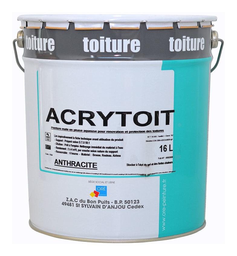 Acrytoit 16l Anthracite Peinture De Decoration Et Renovation Des Toitures Fibro Ciment Ardoises Tuiles Terre Cuite Ou Ciment Acryanthr16