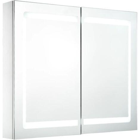 Armoire De Salle De Bain A Miroir Led 80x12 2x68 Cm